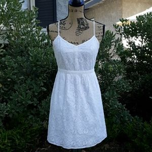 Eyelet dress summer spaghetti straps size 2